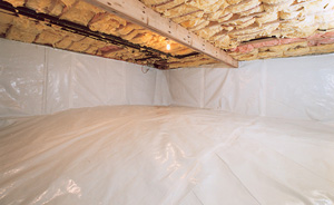 Crawl Space Moisture Barrier After in Lowell