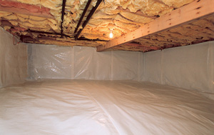 CleanSpace® vapor barrier after in Lowell