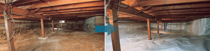 Crawl Space Repair in MA, including Lynn, Cambridge & Boston.