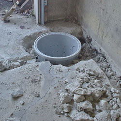 Placing a sump pit in a Salem home