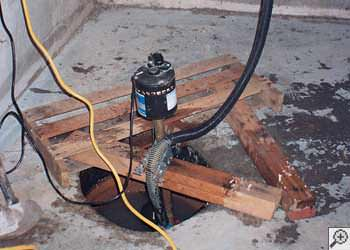 A Arlington sump pump system that failed and lead to a basement flood.