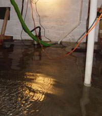 Several feet of floodwaters in a North Andover basement
