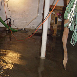 Foundation flooding in a Haverhill,Massachusetts home