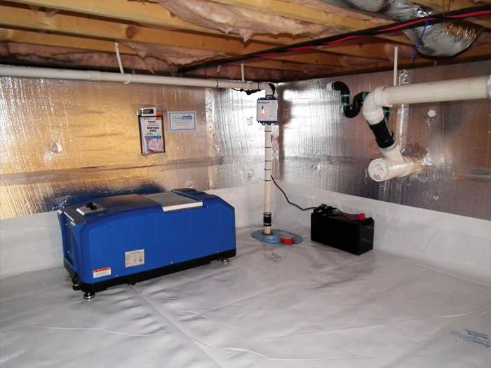 Insulated Crawl E With Our Energy Efficient Dehumidifier Installed