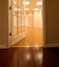 Basement Wood Flooring installed in Waltham, Massachusetts