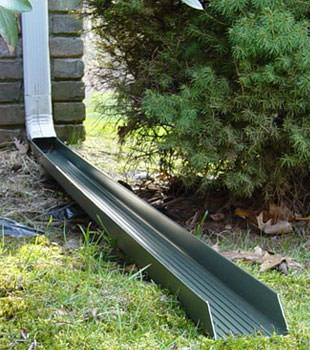 Gutter downspout extension installed in Billerica