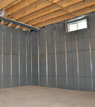 Installed basement wall panels installed in Haverhill